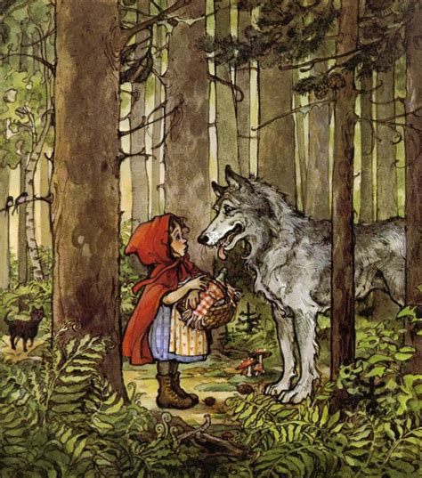 little red riding hood english fairy tale for kids youtube little red riding hood vintage children s print trina