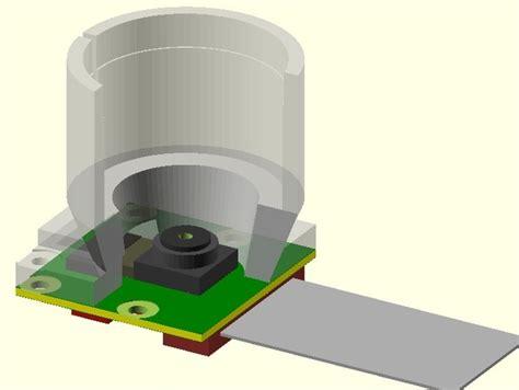 raspberry pi lens raspberry pi objective lens adaptor by jbeale