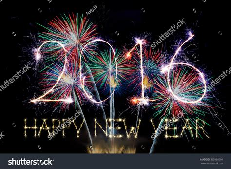 new year light up 2016 happy new year 2016 colorful sparkle stock photo 353968901