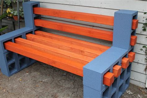 concrete block bench how to make a simple inexpensive outdoor bench