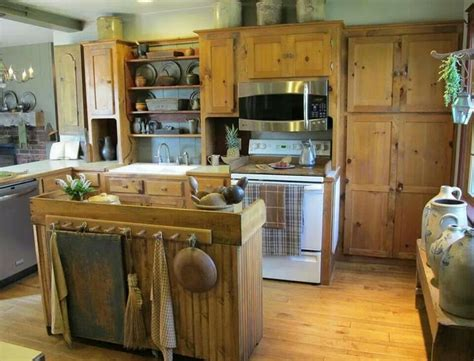 primitive kitchen cabinets primitive kitchen prim cabinets pinterest
