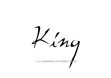 tattoo fonts king king name designs