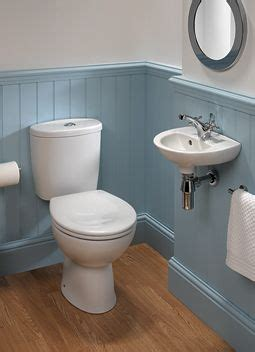 tongue  groove  blue  downstairs toilet