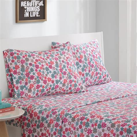 pattern jersey sheets intelligent design cotton blend jersey knit sheet set ebay