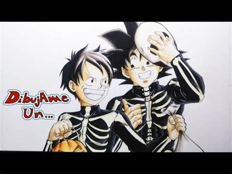 imagenes de goku halloween como dibujar a goku y luffy especial halloween noche de