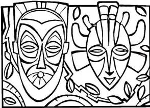 african mask coloring az coloring pages