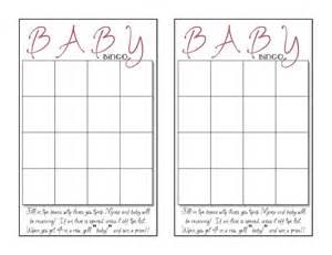 baby bingo template what 5 teach me baby shower bingo