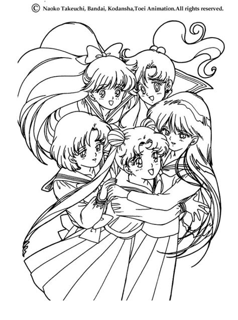 sailor moon coloring pages games friendship coloring pages hellokids com