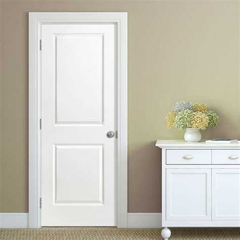 Panel Interior Doors Shop Masonite Hollow 2 Panel Square Slab Interior Door Common 28 In X 80 In Actual 28