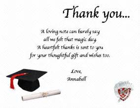 graduation thank you note quotes