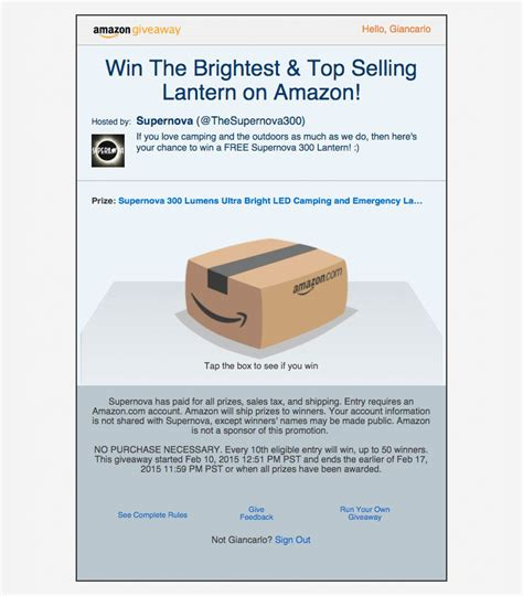 Amazon Giveaway Rules - amazon giveaway unboxing amazon s new service