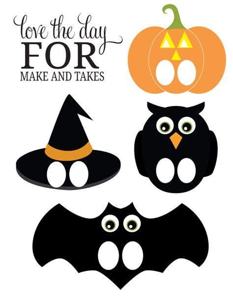 printable halloween images for free printable halloween finger puppets make and takes