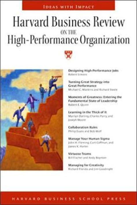 Harvard Mba Student Organizations by Harvard Business Review On The High Performance