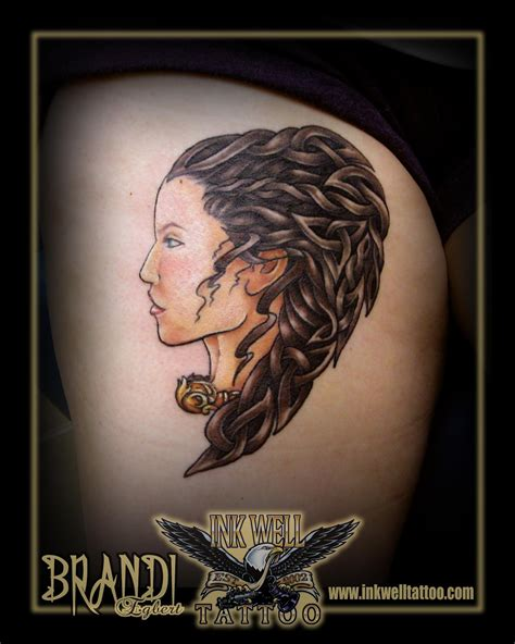 female warrior tattoos brandi egbert ink well