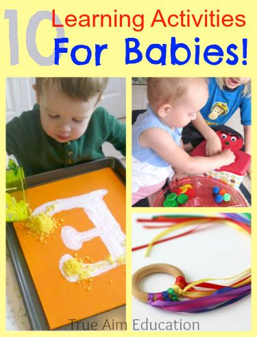 Top 10 Activities With Your Infant by 10 Learning Activities For Babies And S Library 85