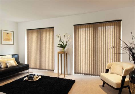 Curtains Over Vertical Blinds Sliding Glass Doors Living Room Modern Living Room Decoration With Black