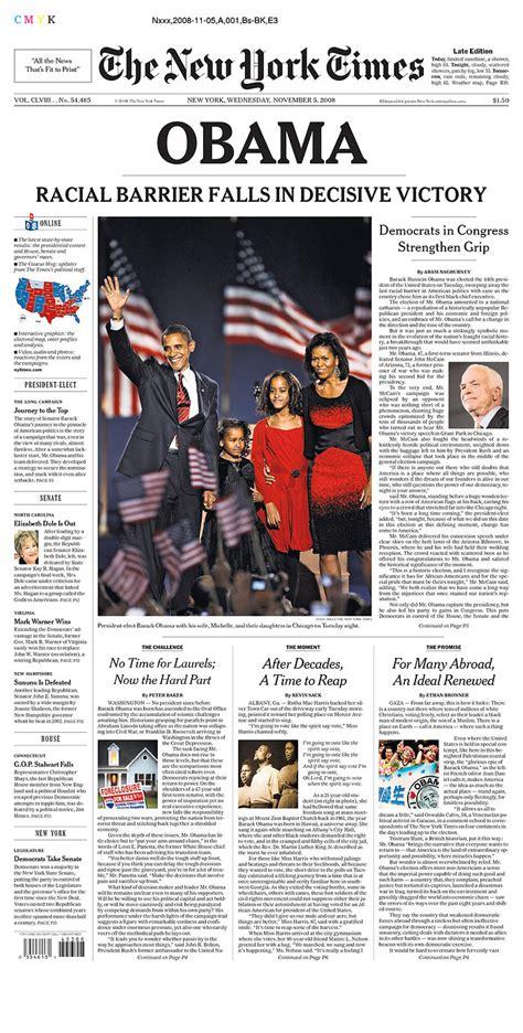 new york times obama obama newspaper front page headlines of barack obama