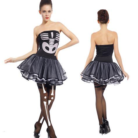 horror themed clothing uk ladies sexy halloween horror scary skeleton bones x ray