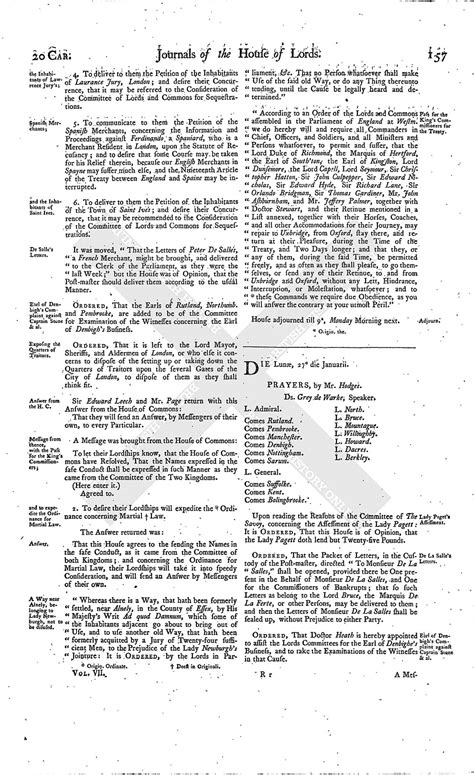 section 179 history house of lords journal volume 7 25 january 1645 british