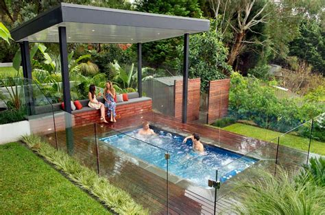 outdoor hot tub landscaping ideas with deck flooring home design