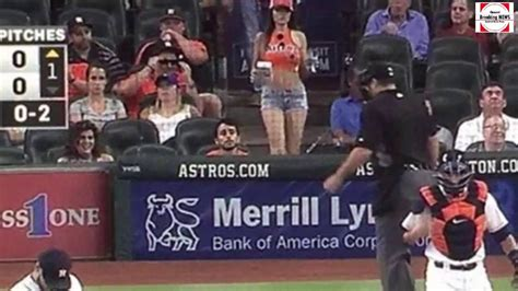 hot chick at brewers game terann hilow photos the astros girl caught on tv cameras