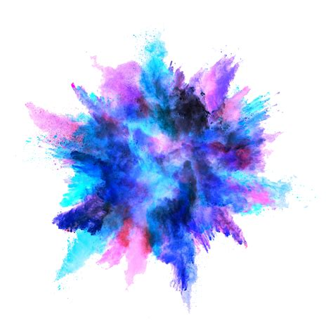 colored powder blue color powder explosion png image purepng free