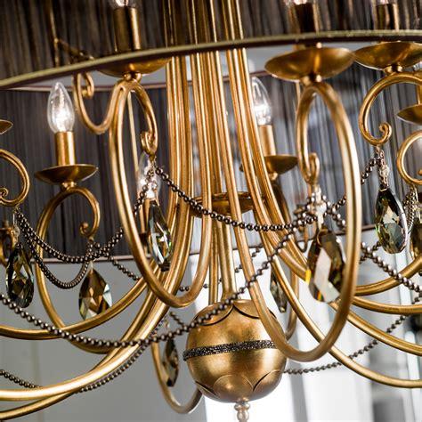 Modern Gold Chandelier Modern Gold Leaf Swarovski Chandelier