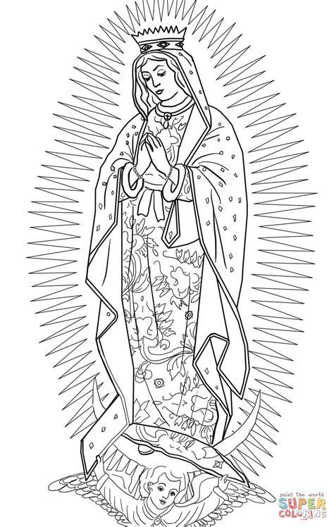 Our Of Guadalupe Coloring Pages our of guadalupe coloring