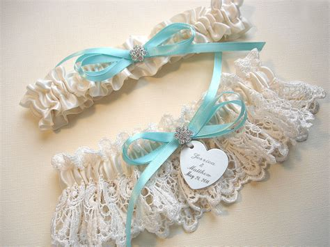 Wedding Garter Sets by Garters Personalized Wedding Garter Set In By