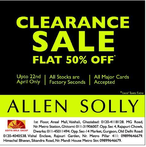 factory seconds sale allen solly factory seconds sale new delhi saleraja