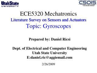 sensors and actuators in mechatronics design and applications books ppt gyroscopes powerpoint presentation id 1240783