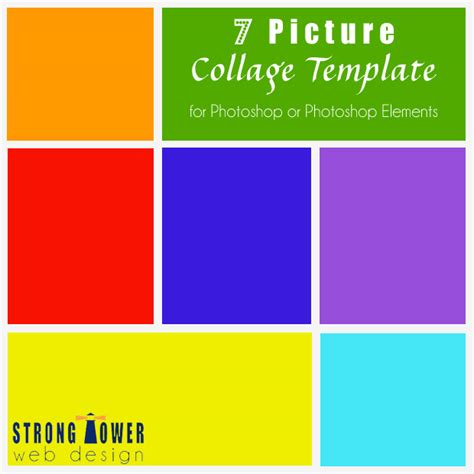 free word collage template free 7 picture photo collage template