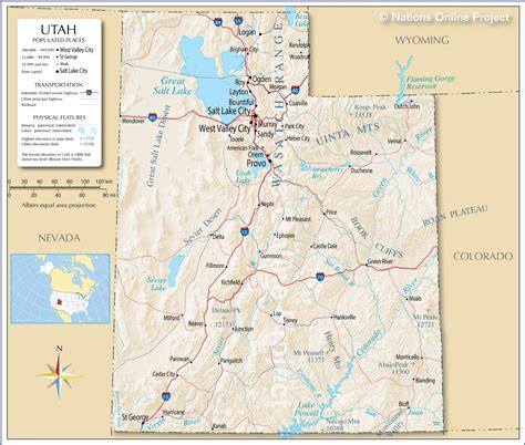ut map reference map of utah usa nations project
