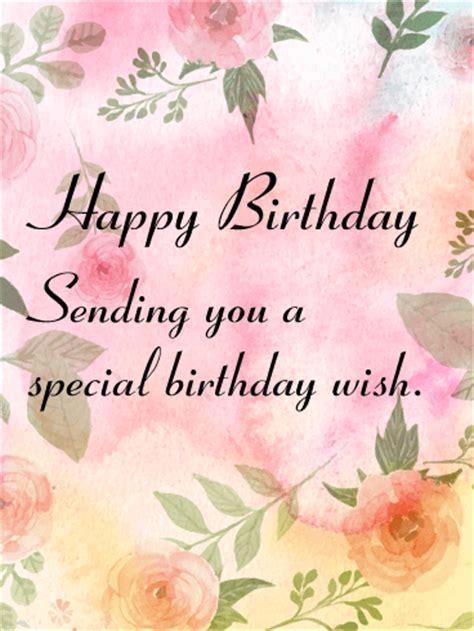How Do You Send Birthday Cards On Sending You A Special Birthday Wish Card Birthday