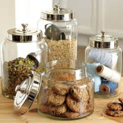 glass kitchen storage canisters glass canisters williams sonoma
