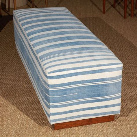 indian ottoman furniture vintage indian dhurrie ottoman bench at 1stdibs