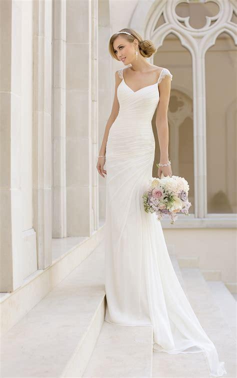 wedding dresses sheath wedding gown  straps stella