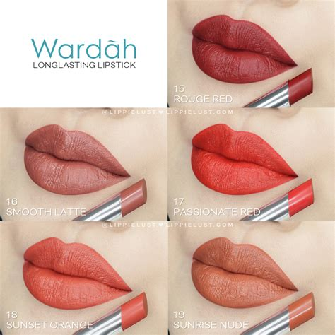 Review Dan Lipgloss Wardah swatch review wardah lasting lipstick