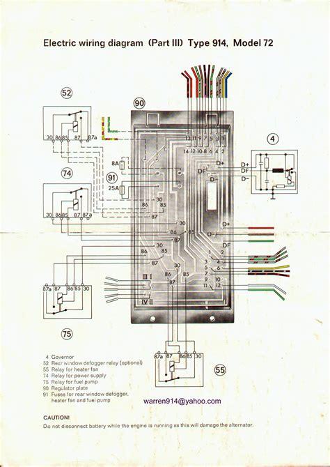 porsche 914 headlight wiring diagram get free image