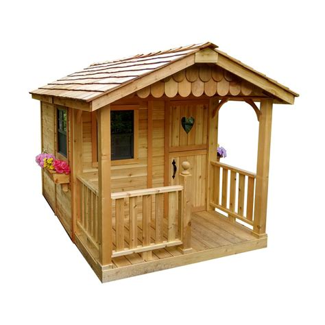 outdoor playhouse outdoor living today 6 ft x 9 ft sunflower playhouse sp69 the home depot
