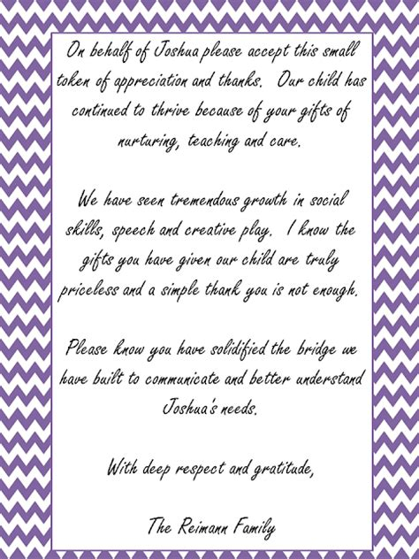 thank you letter to special needs treasures