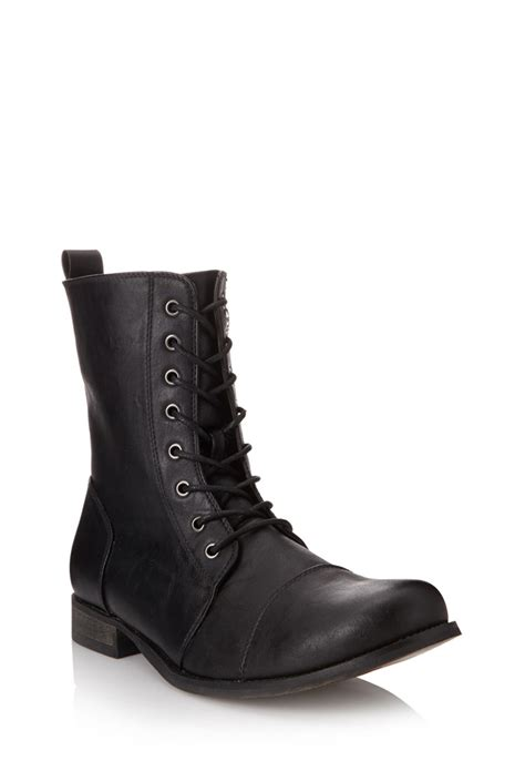 mens combat boots forever 21 lyst forever 21 classic combat boots in black for