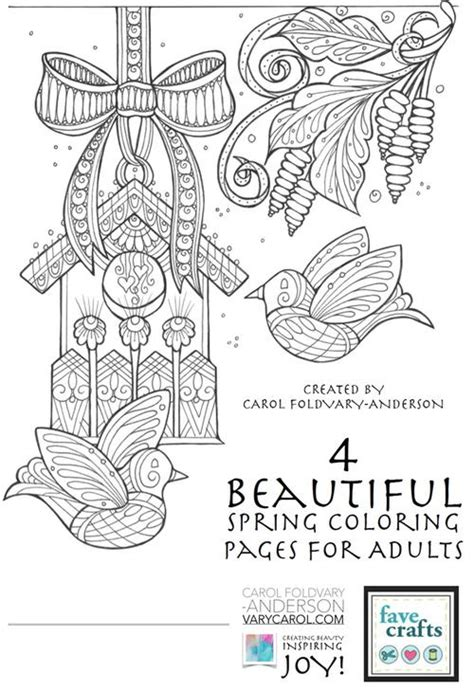 200 gorgeous free colouring pages for adults crafts on sea 4 beautiful spring coloring pages for adults favecrafts com