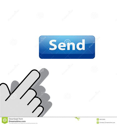 click on button send stock photo image 36915060