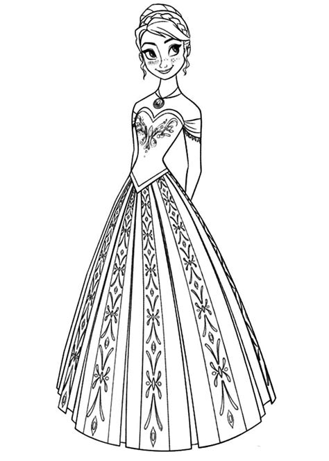 elsa coronation coloring pages queen elsa and princess anna coloring pages printable