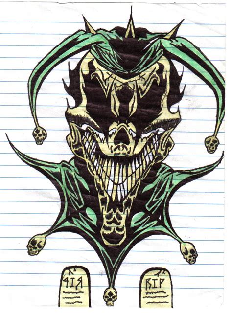 wicked tribal tattoos jester by darklover666 on deviantart