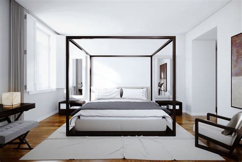 Canopy Bed Modern | 32 white bedrooms that exude calmness