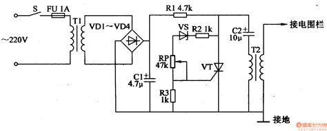 electric fence circuit diagram electric fence circuit 7 control circuit