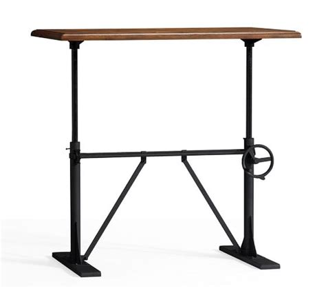 Small Stand Up Desk Pittsburgh Crank Sit Stand Desk Pottery Barn