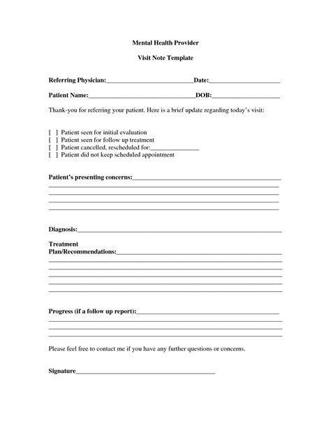 mental health progress note template best photos of mental health diagnosis template mental